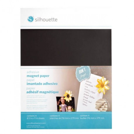 ADHESIVE MAGNET PAPER / PAPEL MAGNÉTICO ADHESIVO-SILHOUETTE