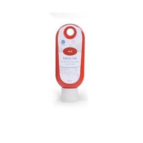 FABRIC INK (2FL OZ/59 CC BOTTLE) RED / SILHOUETTE